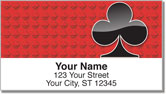 Card Suit Address Labels