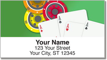 Poker Address Labels