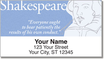 Shakespeare Address Labels