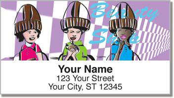 Beauty Shop Address Labels