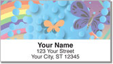 Retro Rainbow Address Labels