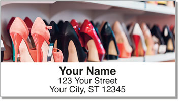 Shoe Shopping Address Labels