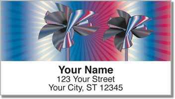 Retro Pinwheel Address Labels