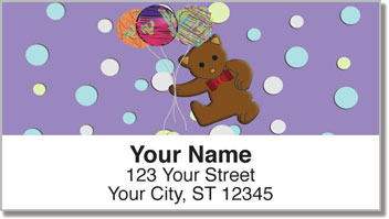 Cute Teddy Bear Address Labels