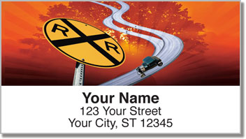Winding Road Address Labels