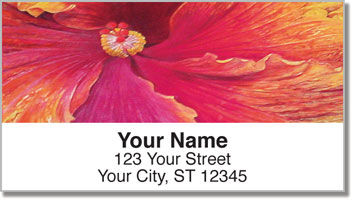 Natural Close Up Address Labels