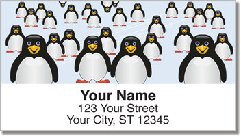 Cute Penguin Address Labels
