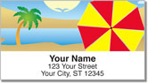 Beach Umbrella Address Labels