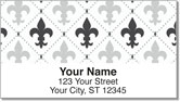Fleur-de-lis Address Labels