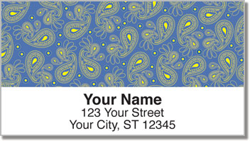 Paisley Pattern Address Labels