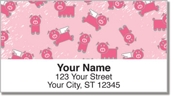 Pink Pig Address Labels
