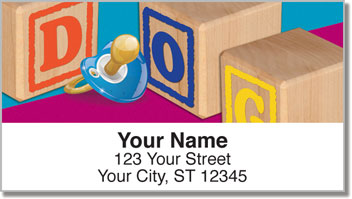 Baby Block Address Labels