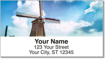 Dutch Windmill Address Labels