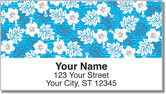 Hawaiian Print Address Labels
