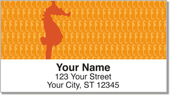 Fish Pattern Address Labels