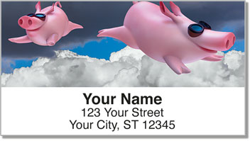 Flying Pig Address Labels