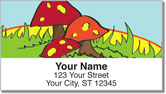 Woodland Toadstool Address Labels