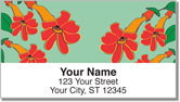 Hanging Flower Address Labels