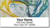 Science Swirl Address Labels