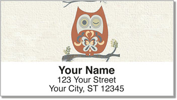 Country Owl Address Labels