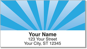 Sun Burst Address Labels