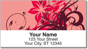 Floral Scroll Address Labels