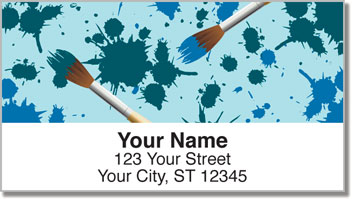 Paintbrush Address Labels