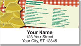 Pasta Recipe Address Labels
