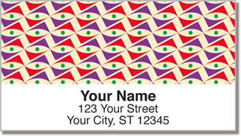Random Retro Patterns Address Labels