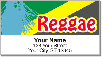 Reggae Music Address Labels