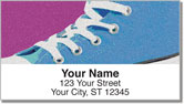 Retro Shoes Address Labels