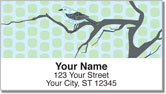 Birds on Branches Address Labels