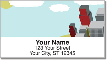 Cityscape Address Labels