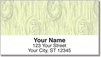Knots in Wood Address Labels