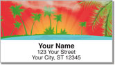 Tropical Getaway Address Labels