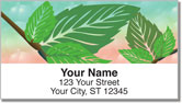 Spring Green Address Labels