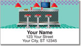 Fifties Diner Address Labels