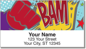 Comic Book Address Labels
