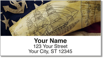 Scrimshaw Ships Address Labels