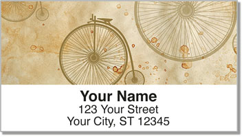 Vintage Bicycle Address Labels