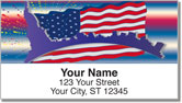 Patriotic Party Address Labels