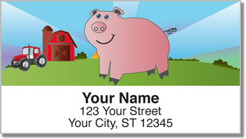 Down on the Farm Address Labels