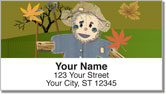 Smiling Scarecrow Address Labels