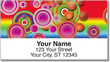 Retro Bullseye Address Labels