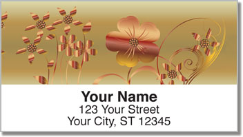 Metallic Flower Address Labels