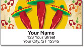 Mexican Fiesta Address Labels