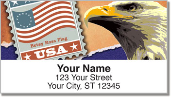 Flag Stamp Address Labels