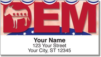 Democratic Party Address Labels