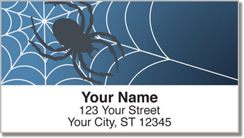 Scary Spider Address Labels