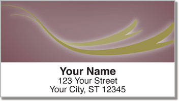 Flowing Ribbon Address Labels